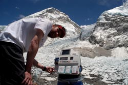 Studying hypoxia: blood gas analysis at Everest's peak