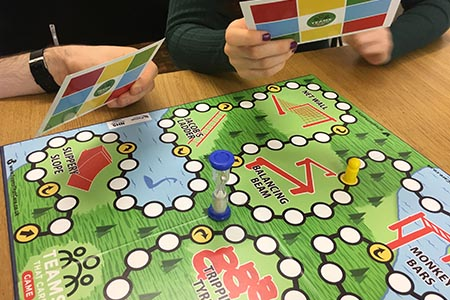 Board game to improve team working in healthcare