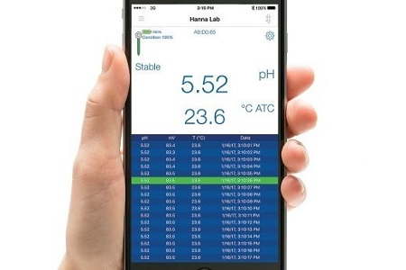 Wireless pH meters using smart phone and tablet technology