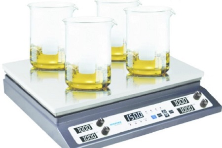 Digital hot plate/stirrers featuring multistation design